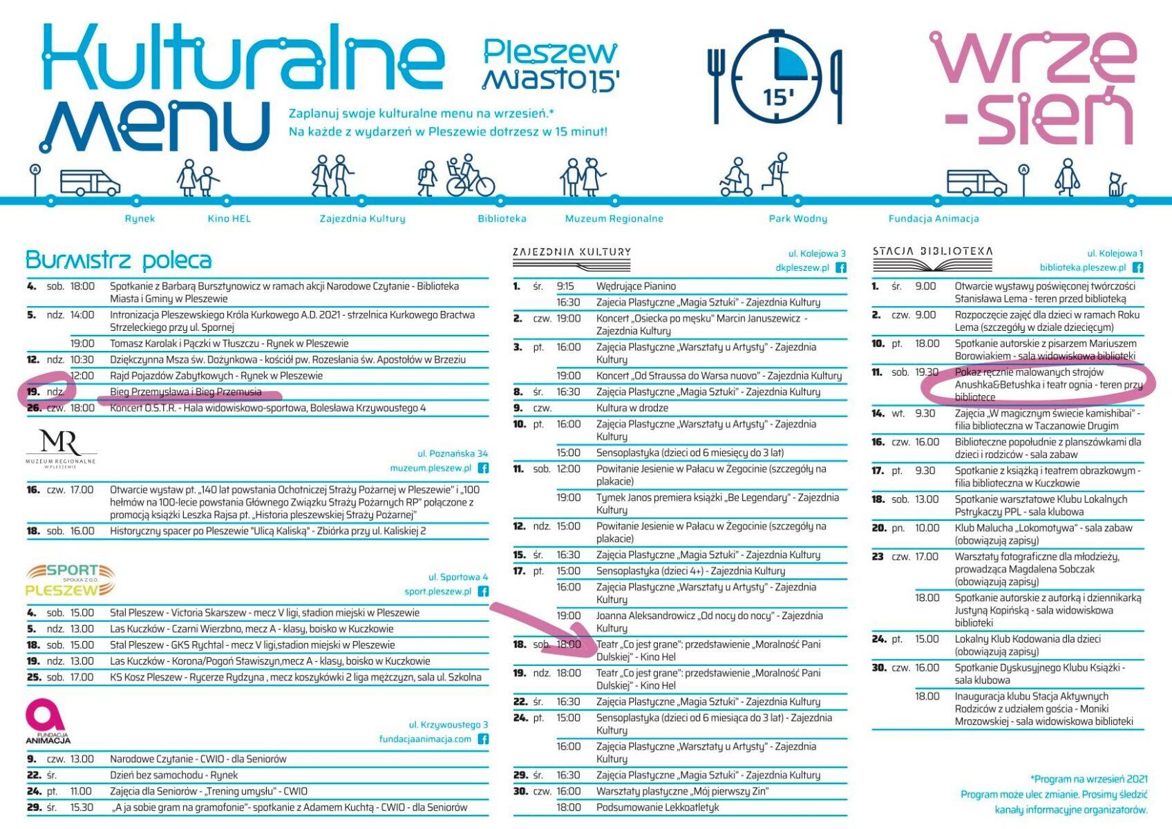 Kulturalne menu – zobacz co wydarzy się we wrześniu!